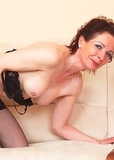 Naughty housewife loves playing by herself