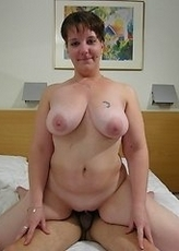 This naughty housewife loves to suck and fuck