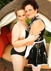 Horny old and young lesbians on vacation