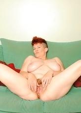 Kinky housewife playing alone