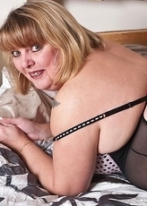 curvy mature showing her body