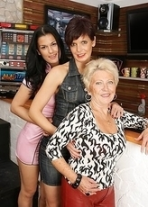 Three naughty old and young lesbians do it naughty