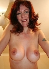 Horny housewife playing to tease us